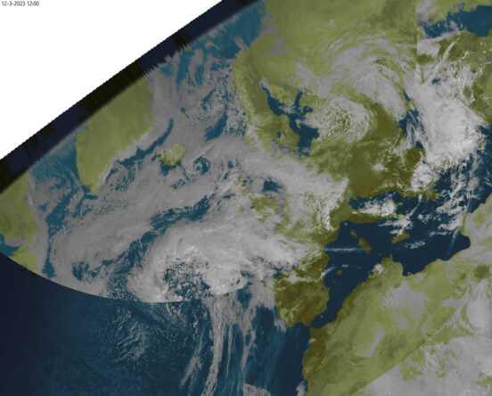 weerstation grou bracknell weersatellieten opname msg3 1200UTC
