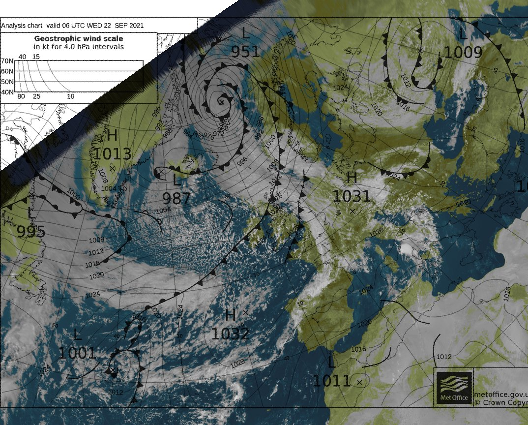 weerstation grou Satelliet opname meteosat met bracknell overlay 1200UTC
