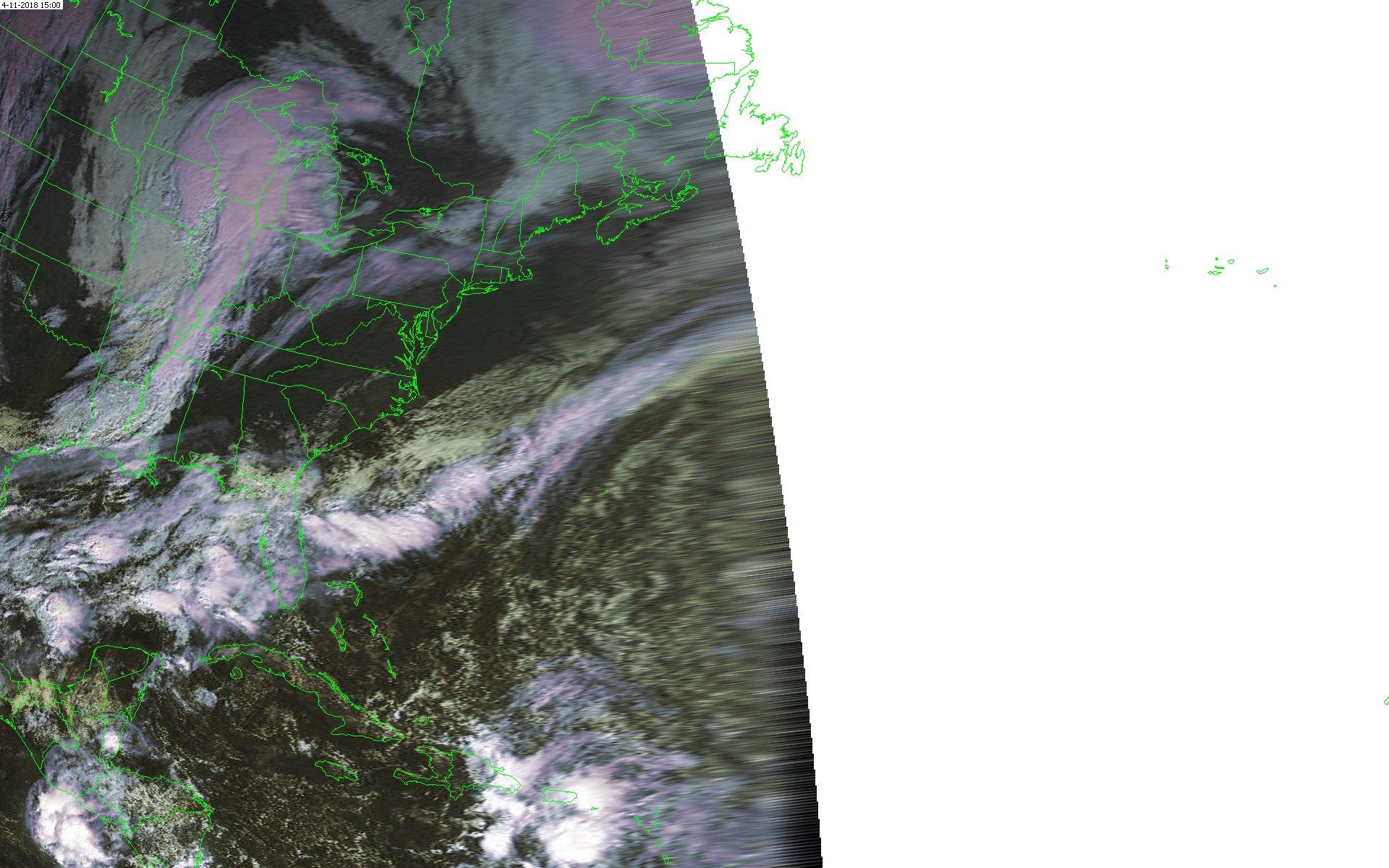 weerstation grou satelliet opname GOES E 1500UTC